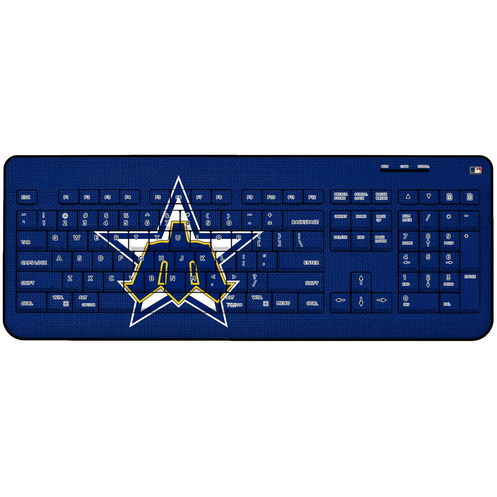 Seattle Mariners 1981-1986 Cooperstown Solid Design Wireless Keyboard