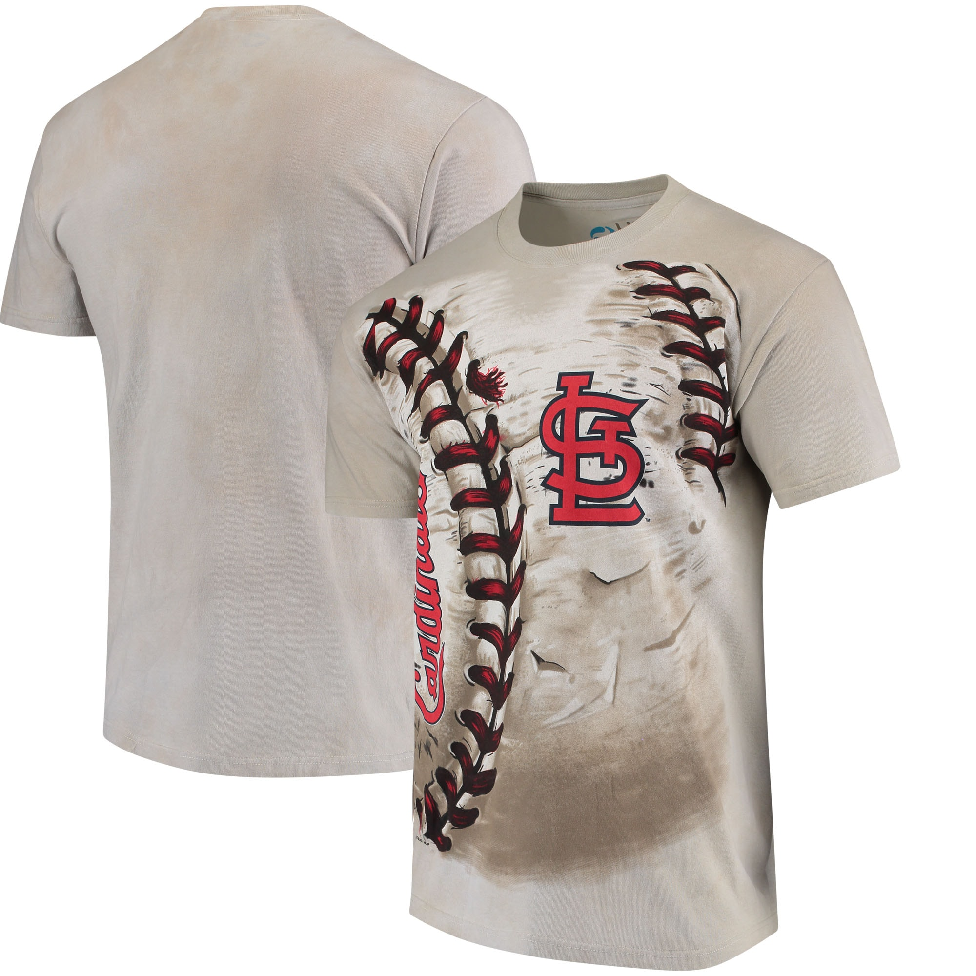 St. Louis Cardinals Hardball Tie-Dye T-Shirt - Cream