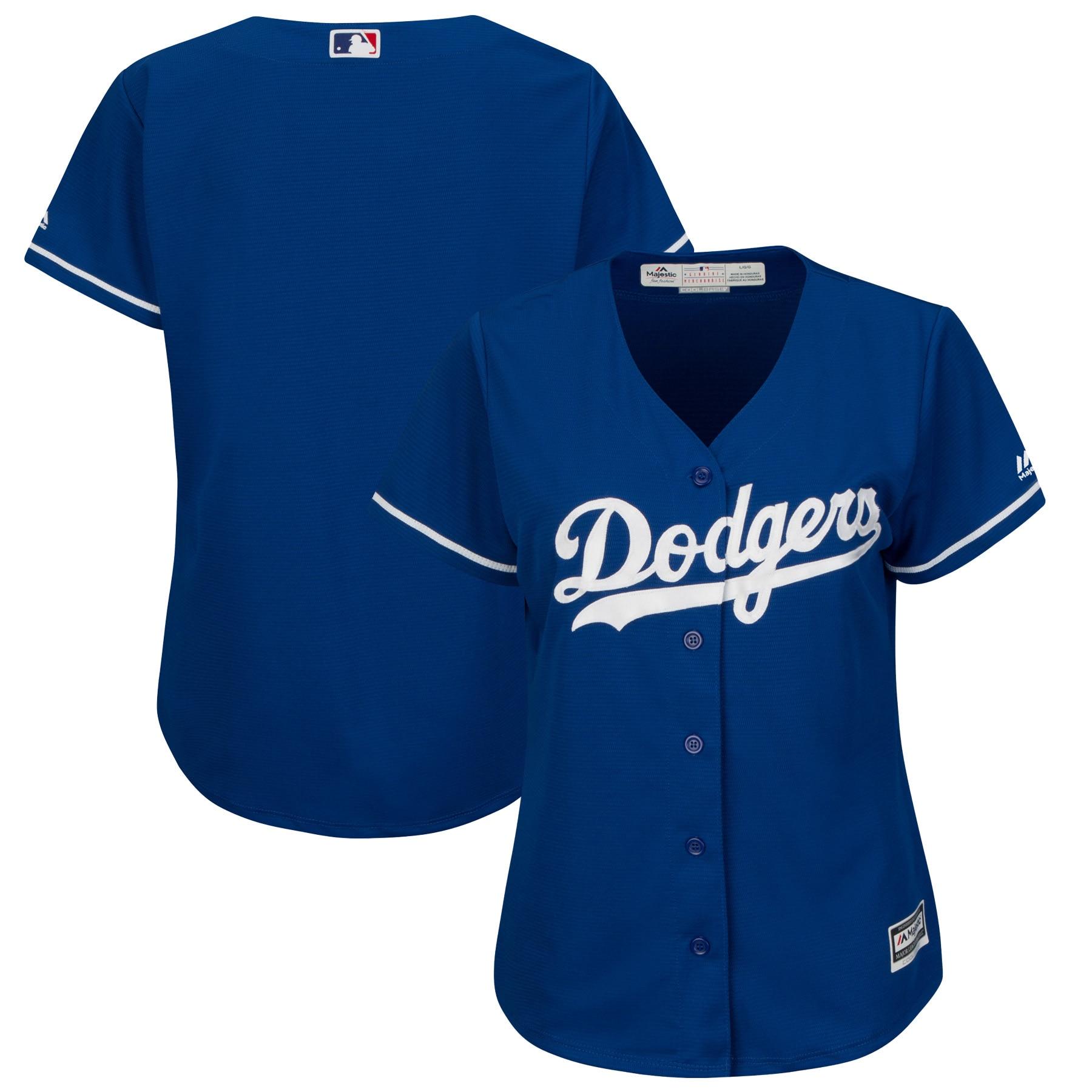 Los Angeles Dodgers Majestic Women's Fashion Plus Size Cool Base Team Jersey - Royal