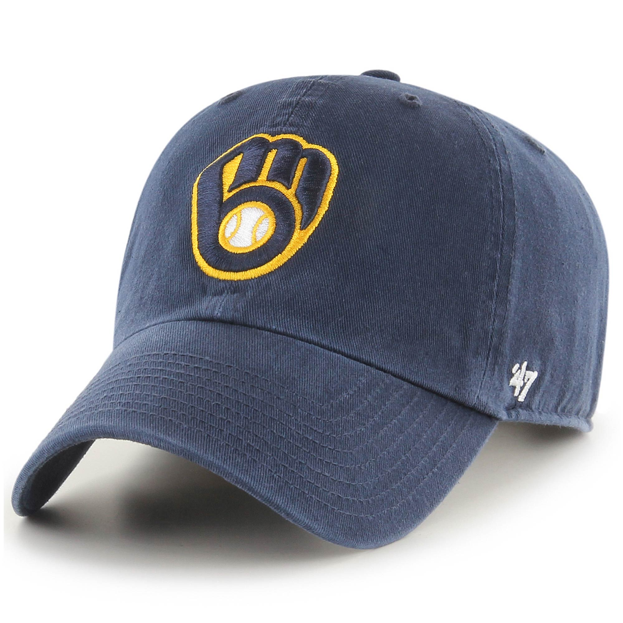 Milwaukee Brewers '47 Home Clean Up Adjustable Hat - Navy