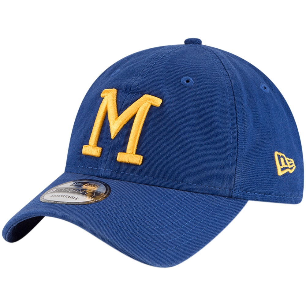 Milwaukee Brewers New Era Cooperstown Collection Core Classic Replica 9TWENTY Adjustable Hat - Royal