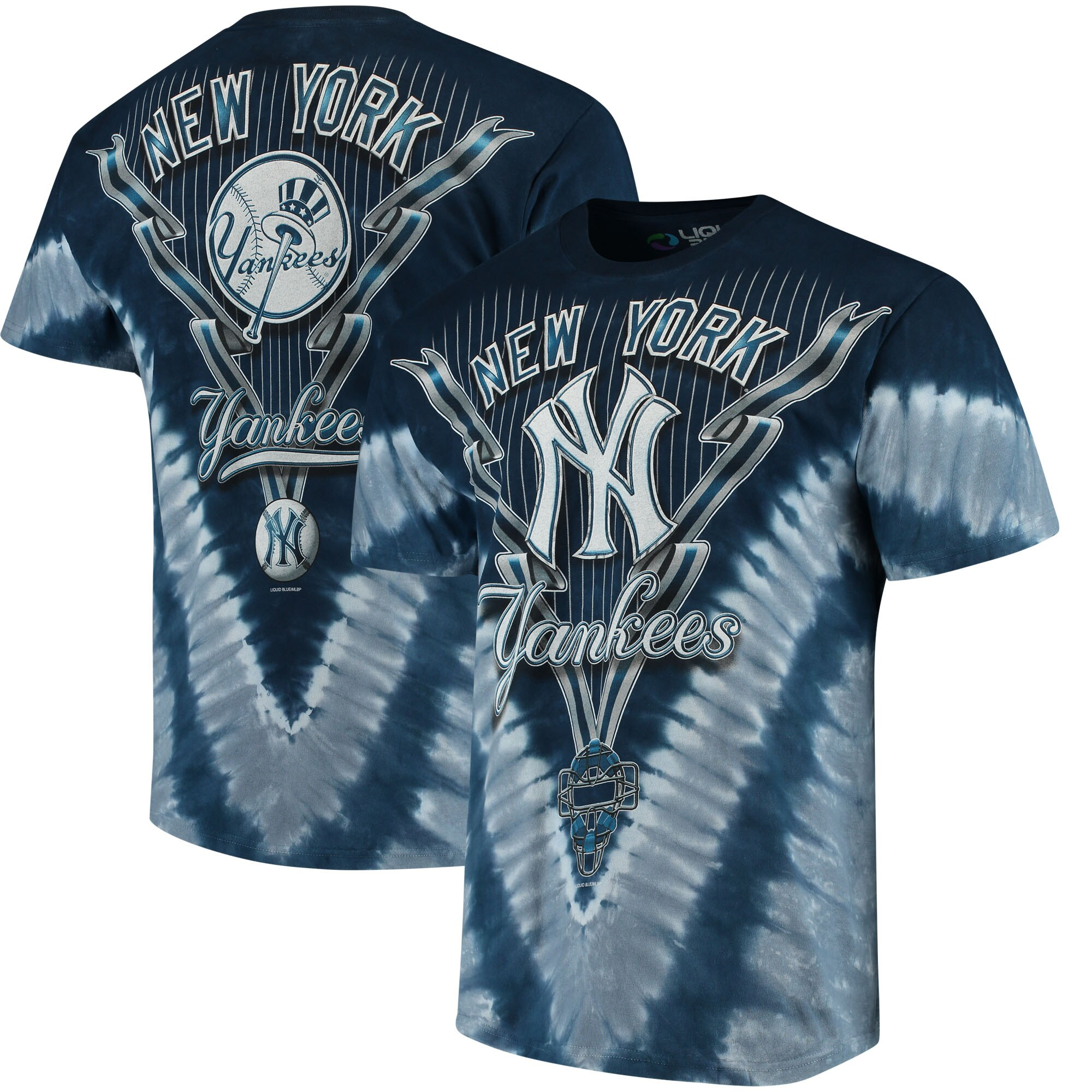 New York Yankees Tie-Dye T-Shirt - Navy Blue