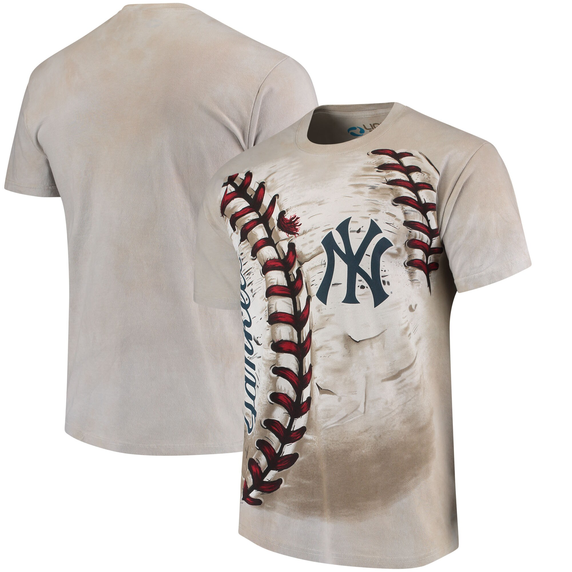 New York Yankees Hardball Tie-Dye T-Shirt - Cream