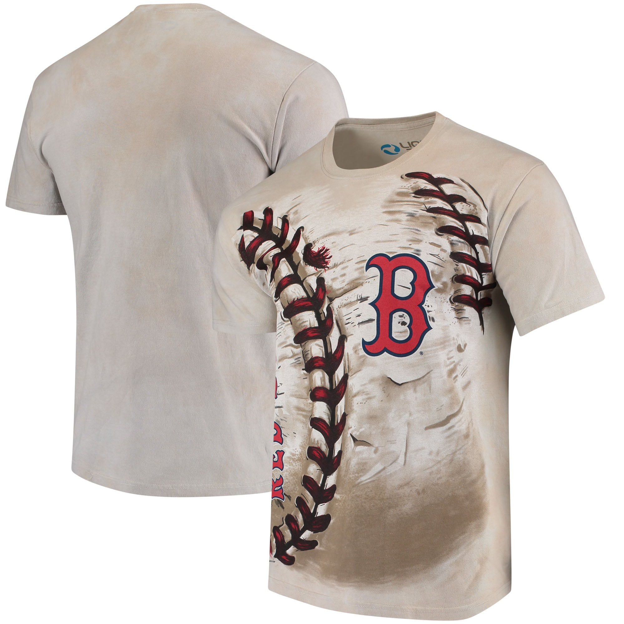 Boston Red Sox Hardball Tie-Dye T-Shirt - Cream