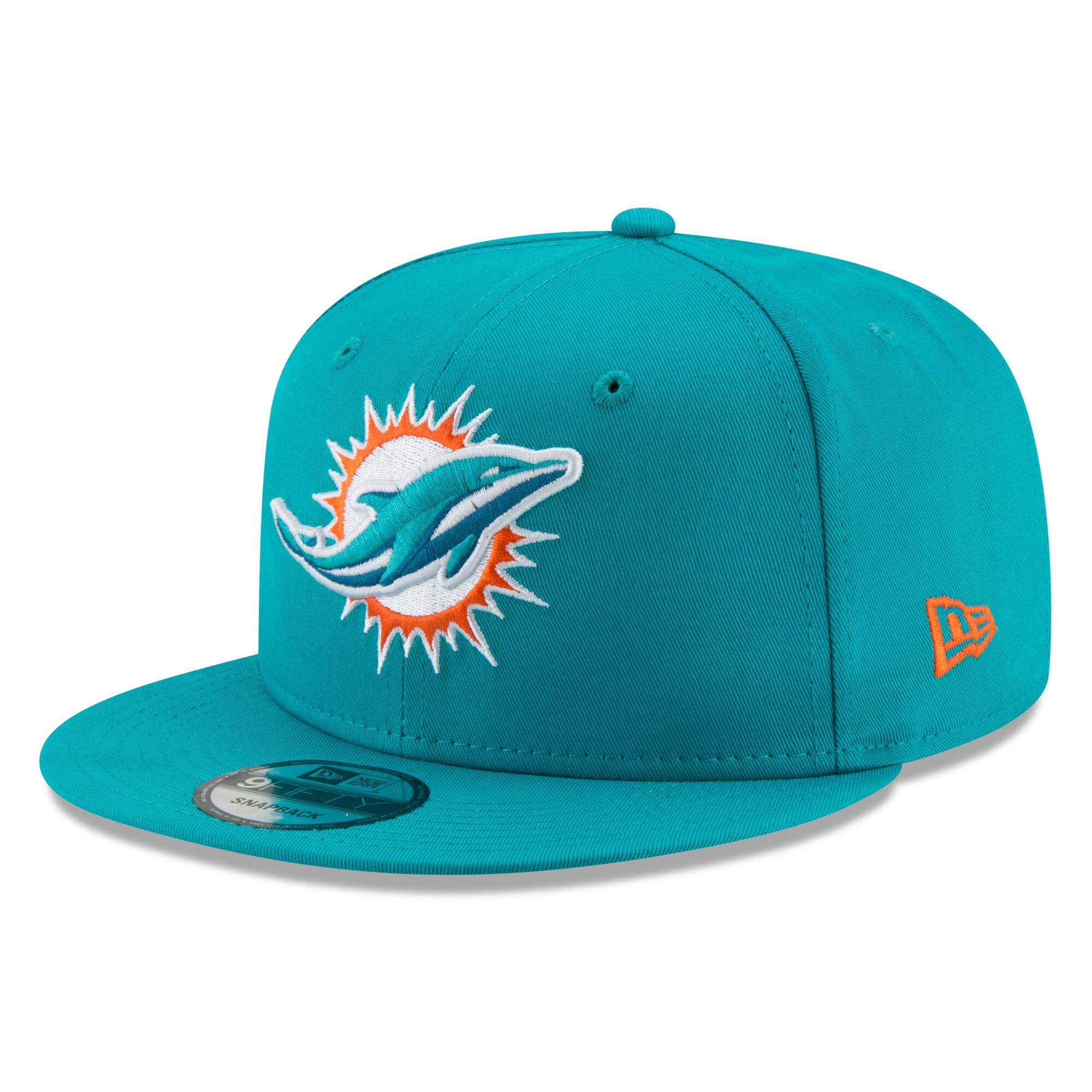 Miami Dolphins New Era Basic 9FIFTY Adjustable Snapback Hat - Aqua