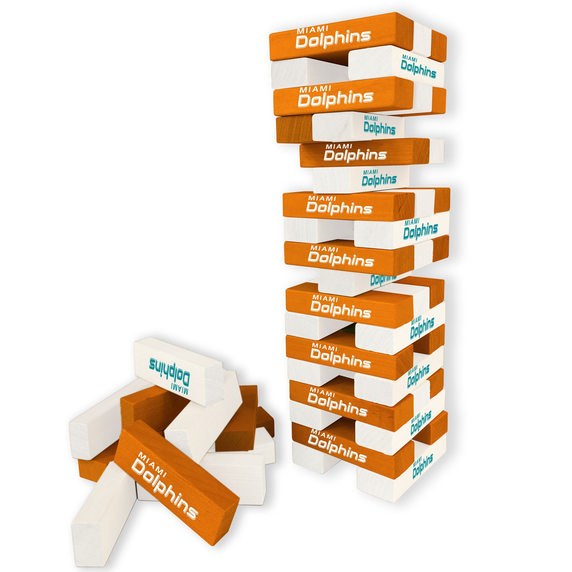 Miami Dolphins Wooden Table Top Stackers