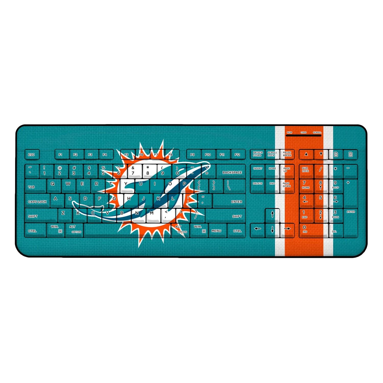 Miami Dolphins Stripe Wireless Keyboard