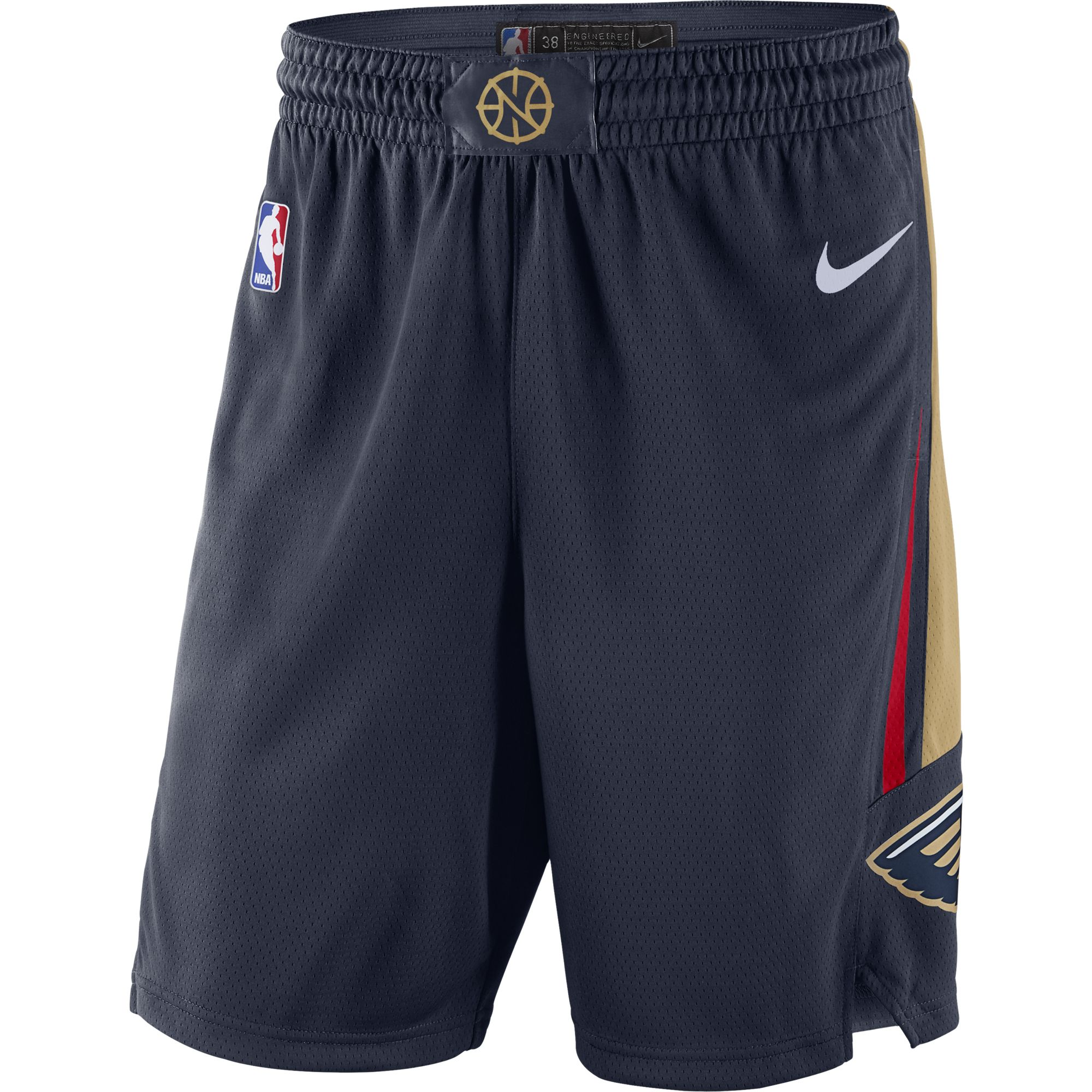 New Orleans Pelicans Nike 2019/20 Icon Edition Swingman Shorts - Navy
