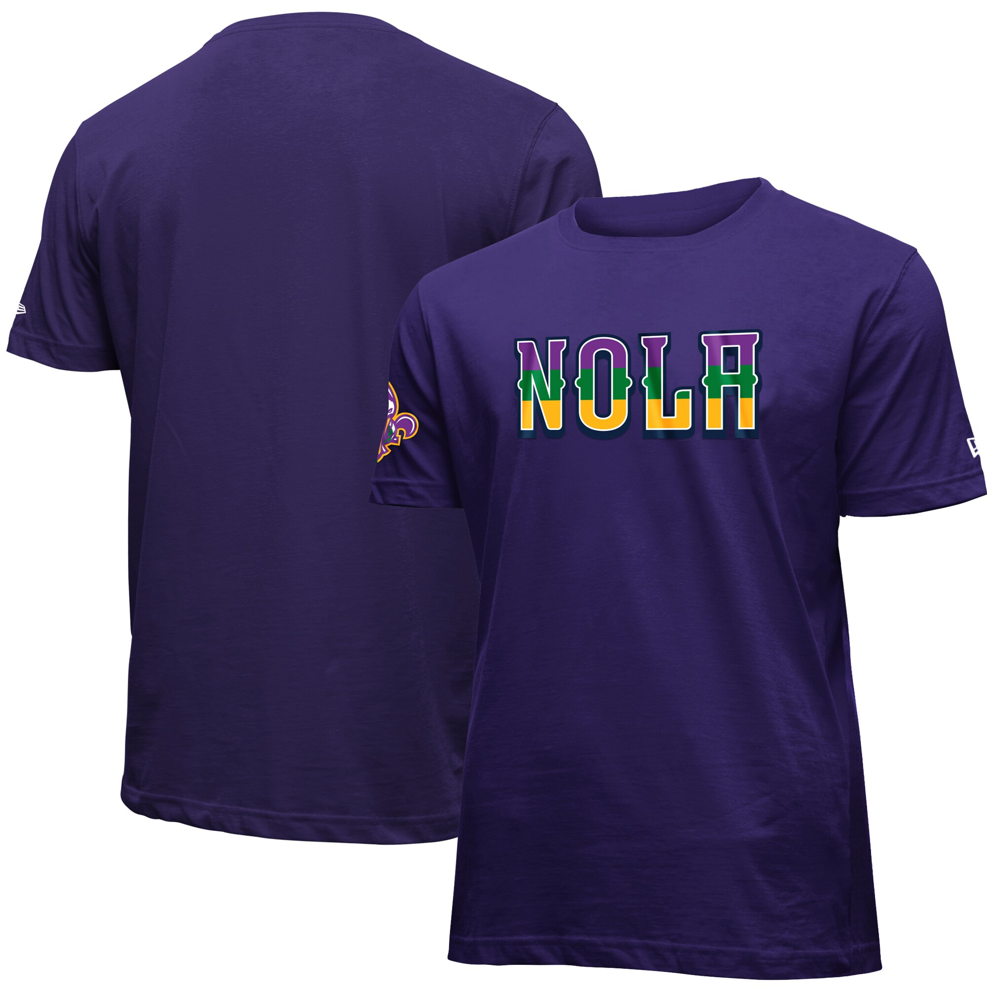 New Orleans Pelicans New Era 2019/20 City Edition Brushed Jersey T-Shirt - Purple