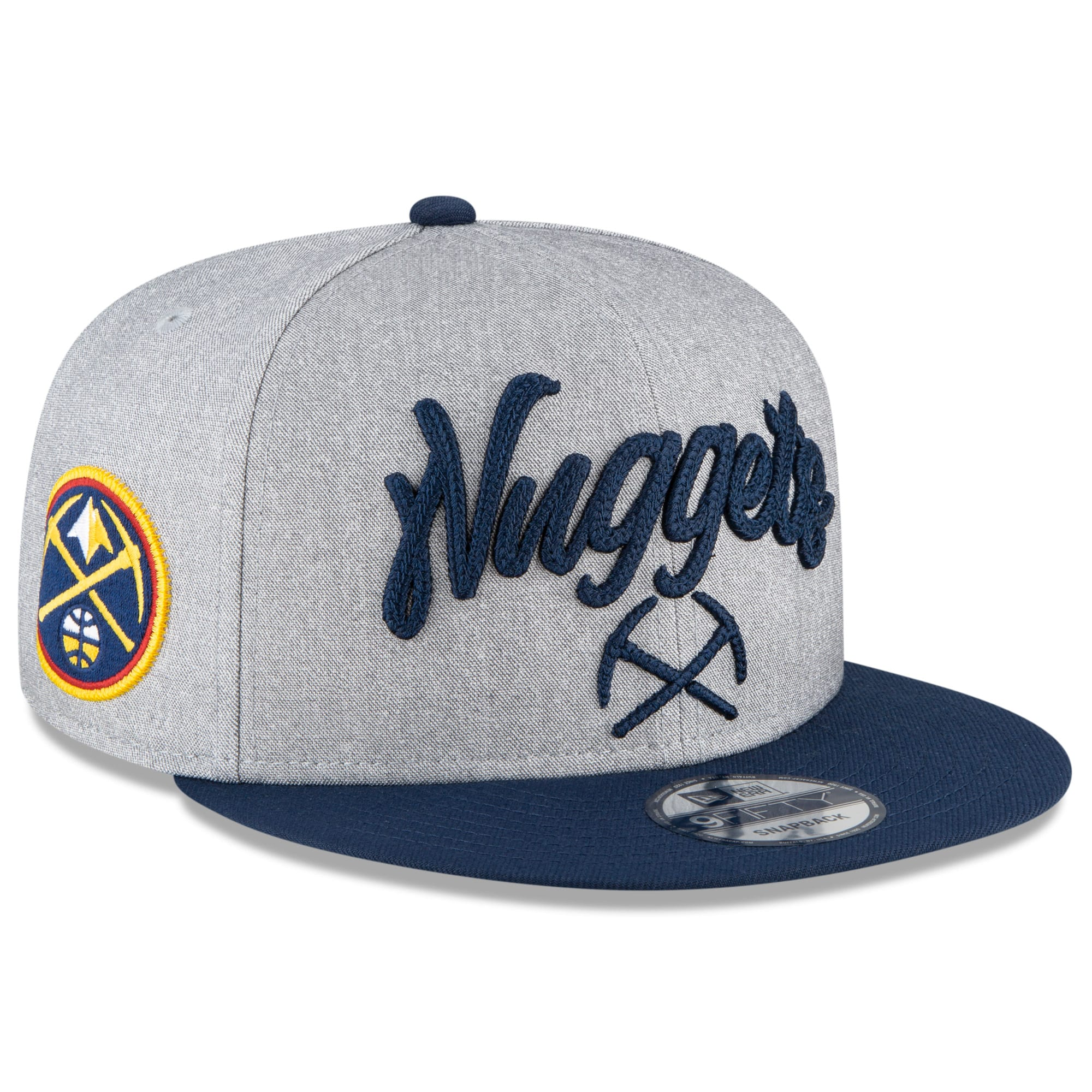Denver Nuggets New Era 2020 NBA Draft Official On-Stage 9FIFTY Snapback Adjustable Hat - Heather Gray/Navy