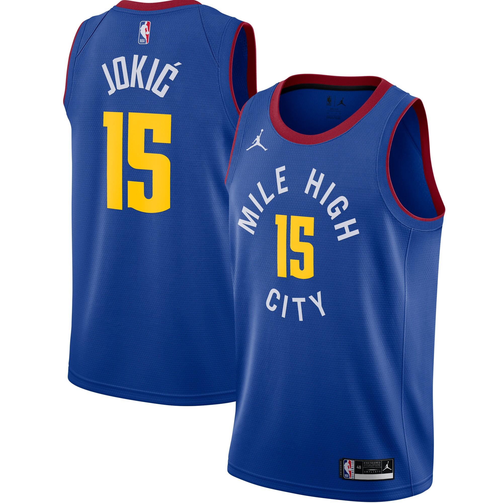 Nikola Jokic Denver Nuggets Jordan Brand 2020/21 Swingman Jersey - Statement Edition - Blue