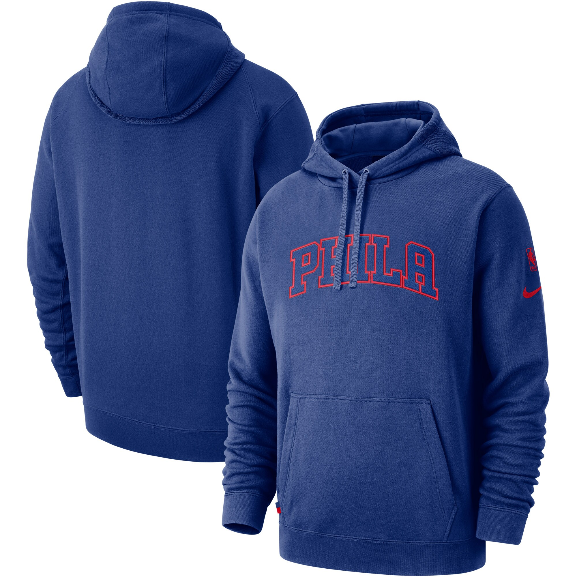 Philadelphia 76ers Nike Courtside French Terry Pullover Hoodie - Royal