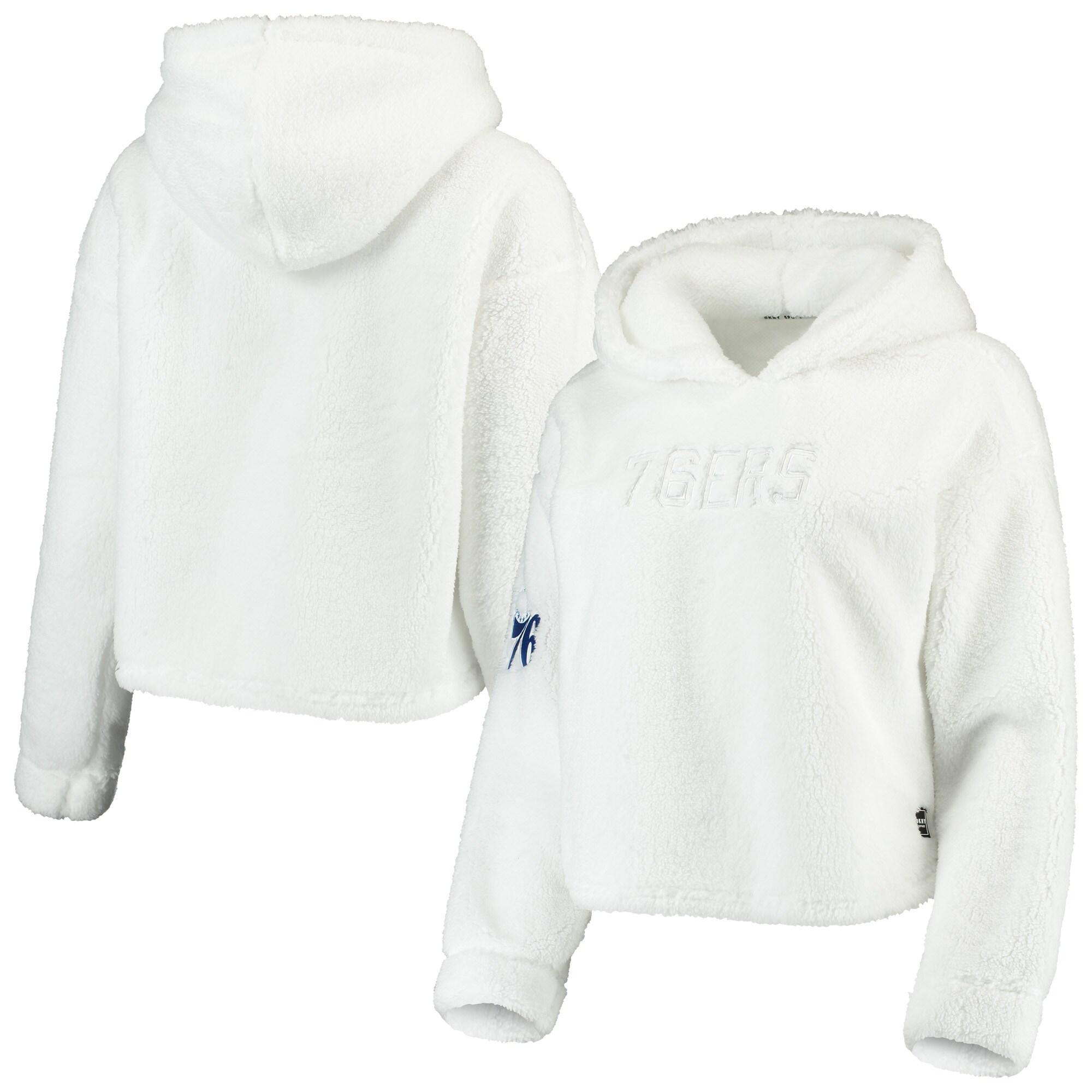 Philadelphia 76ers DKNY Sport Women's Cozy Pullover Hoodie - White
