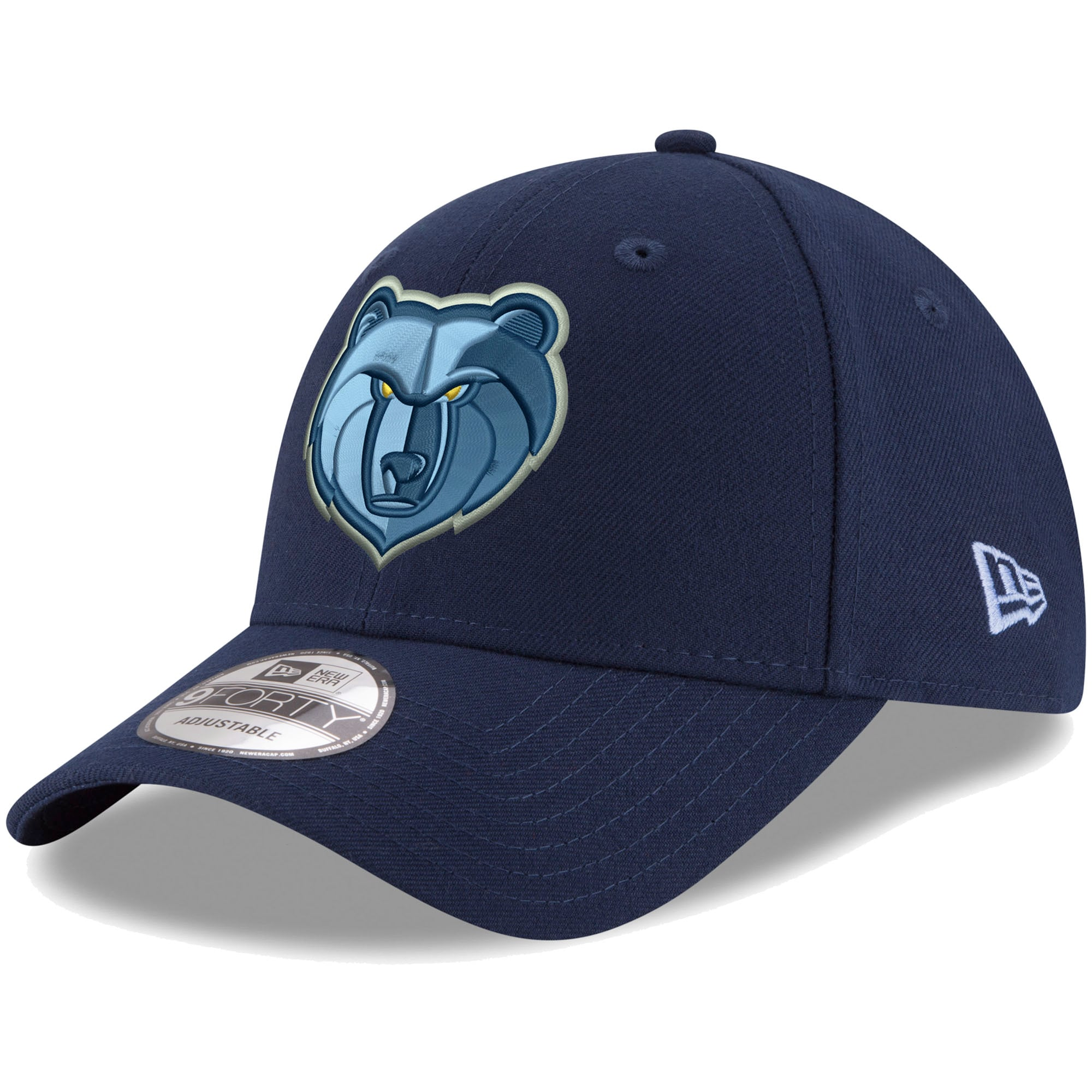 Memphis Grizzlies New Era Official Team Color The League 9FORTY Adjustable Hat - Navy