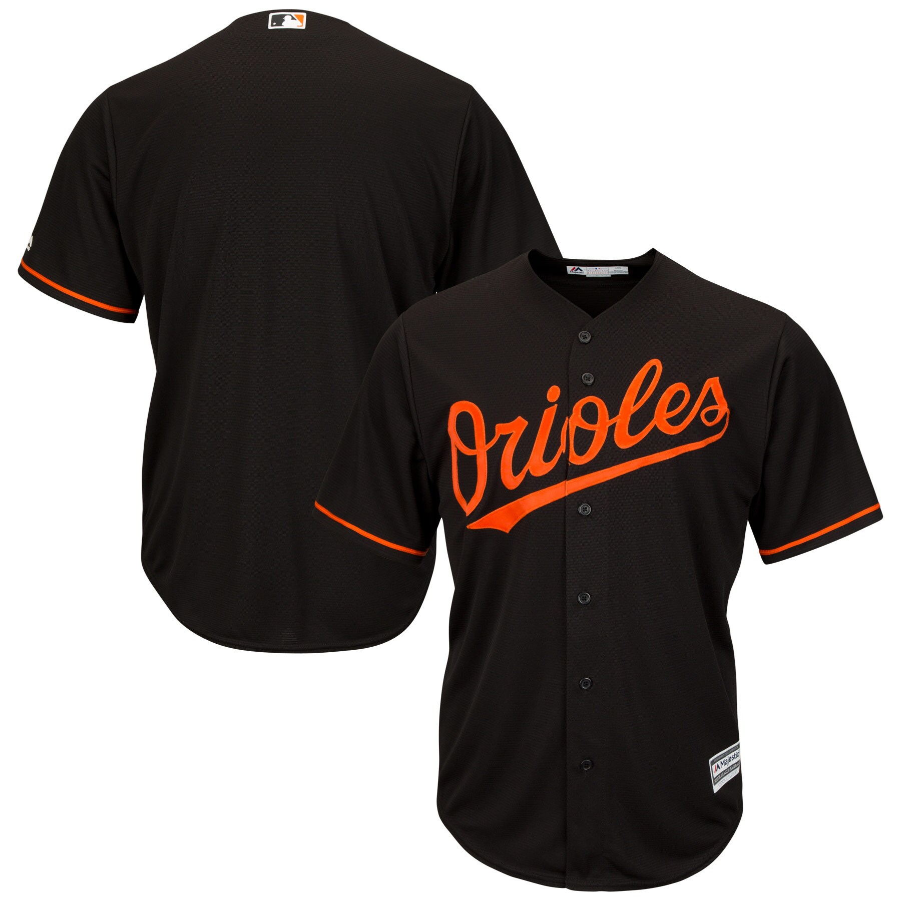 Baltimore Orioles Majestic Big & Tall Cool Base Team Jersey - Black