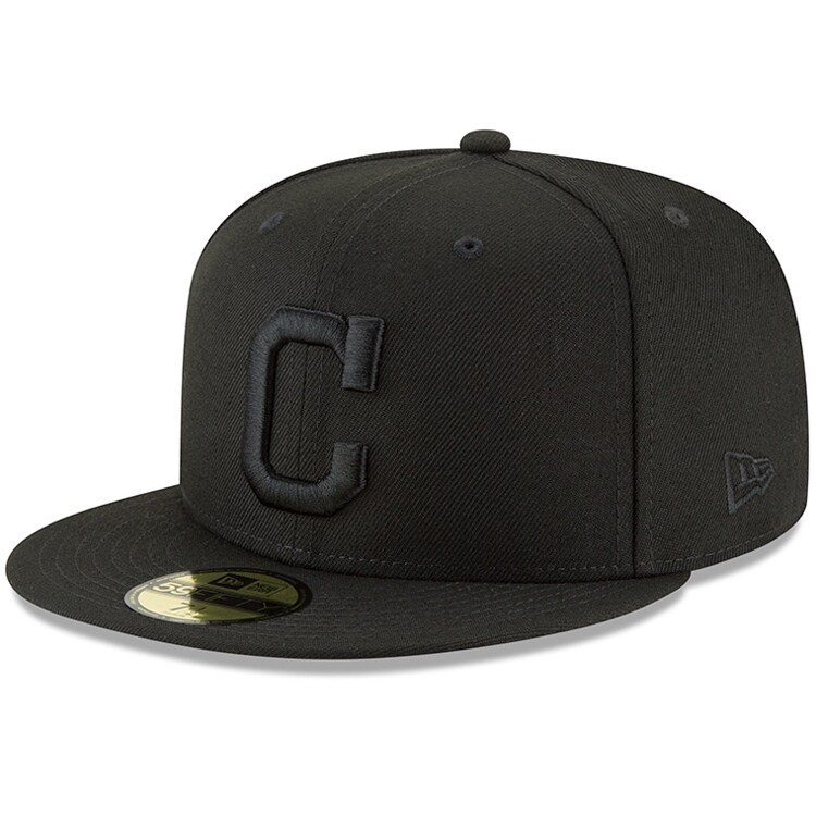 Cleveland Indians New Era Primary Logo Basic 59FIFTY Fitted Hat - Black