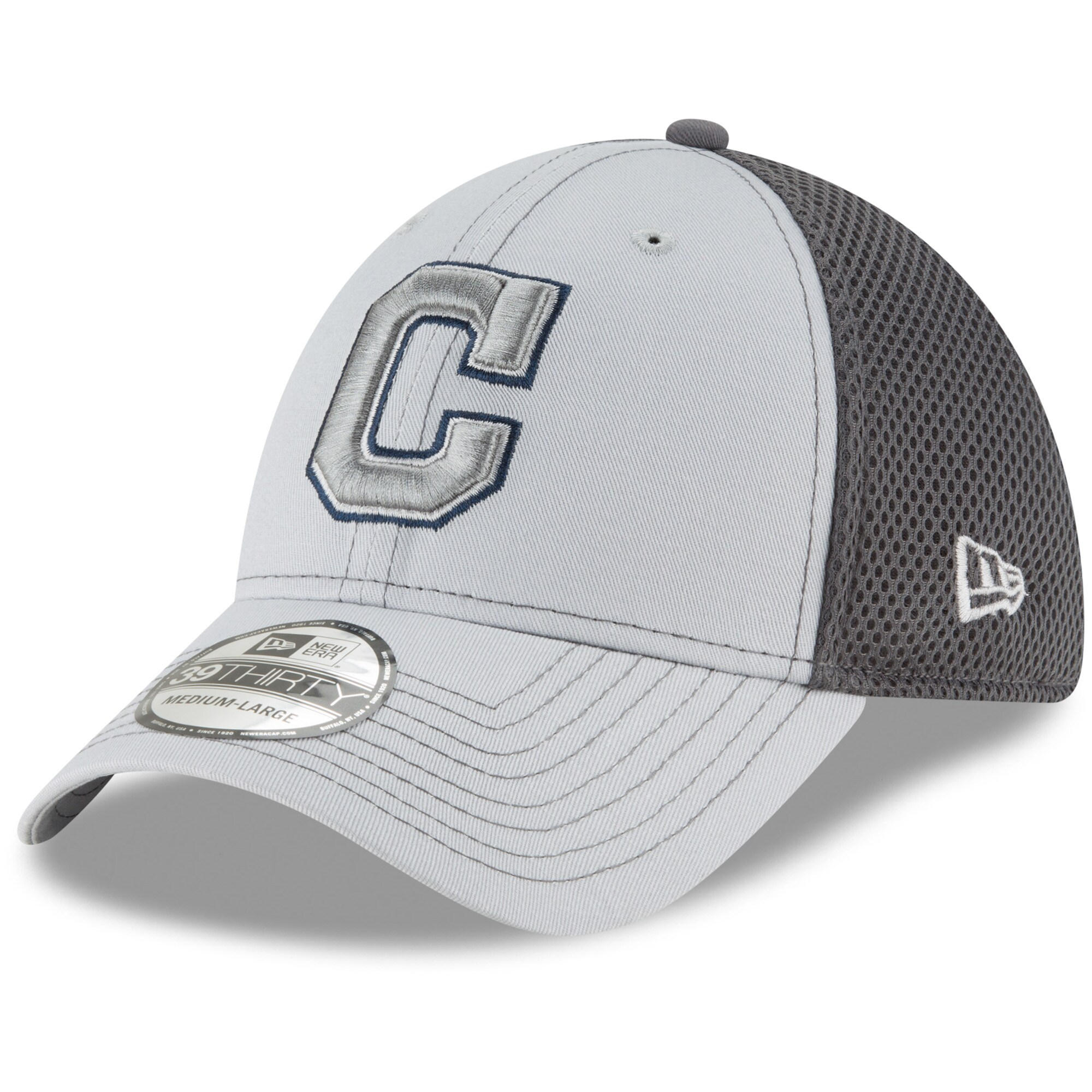 Cleveland Indians New Era Grayed Out Neo 39THIRTY Flex Hat - Gray