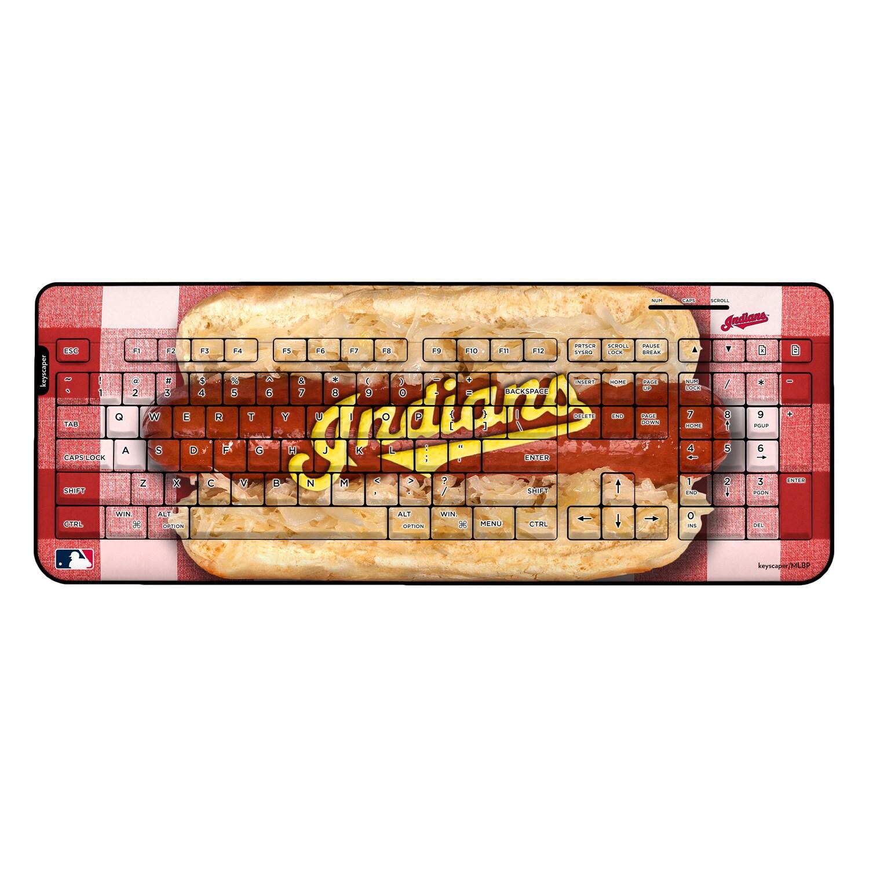 Cleveland Indians Hot Dog Wireless USB Keyboard