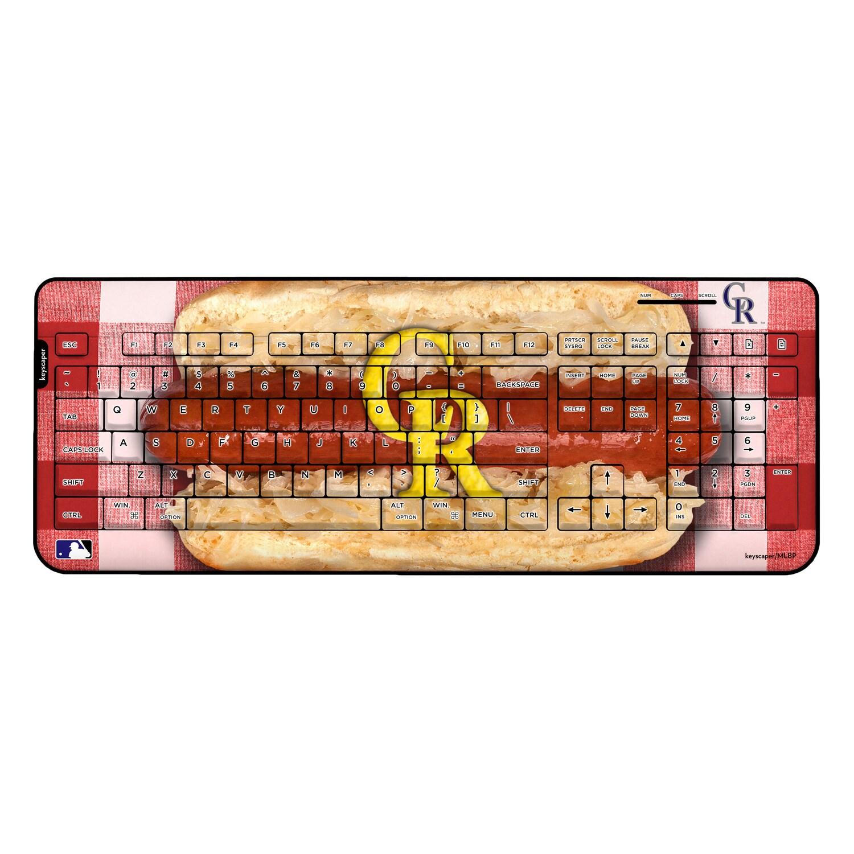 Colorado Rockies Hot Dog Wireless USB Keyboard