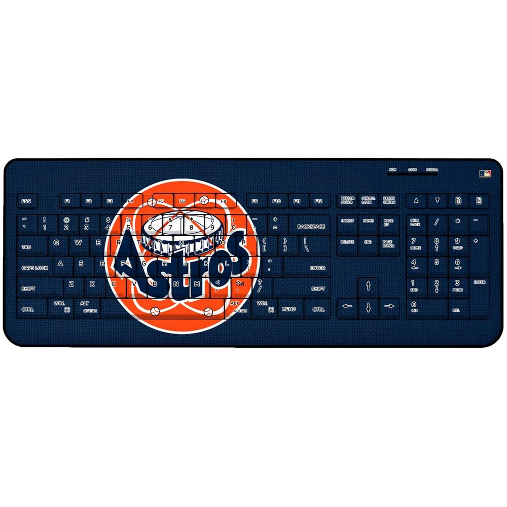 Houston Astros 1977-1998 Cooperstown Solid Design Wireless Keyboard