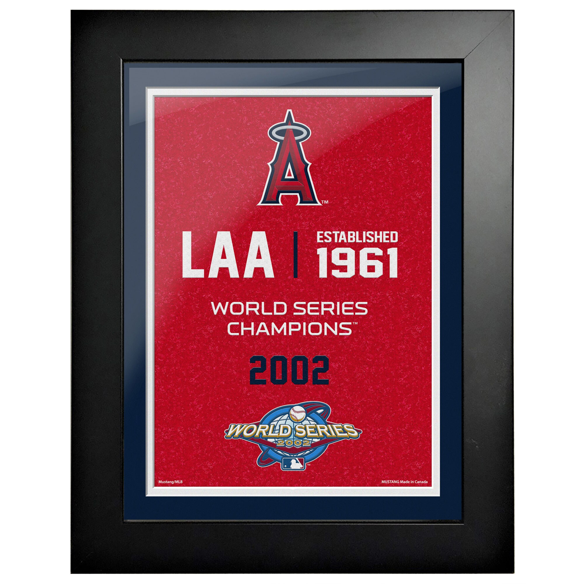 Los Angeles Angels 2002 World Series Champions 18'' x 14'' Empire Framed Art