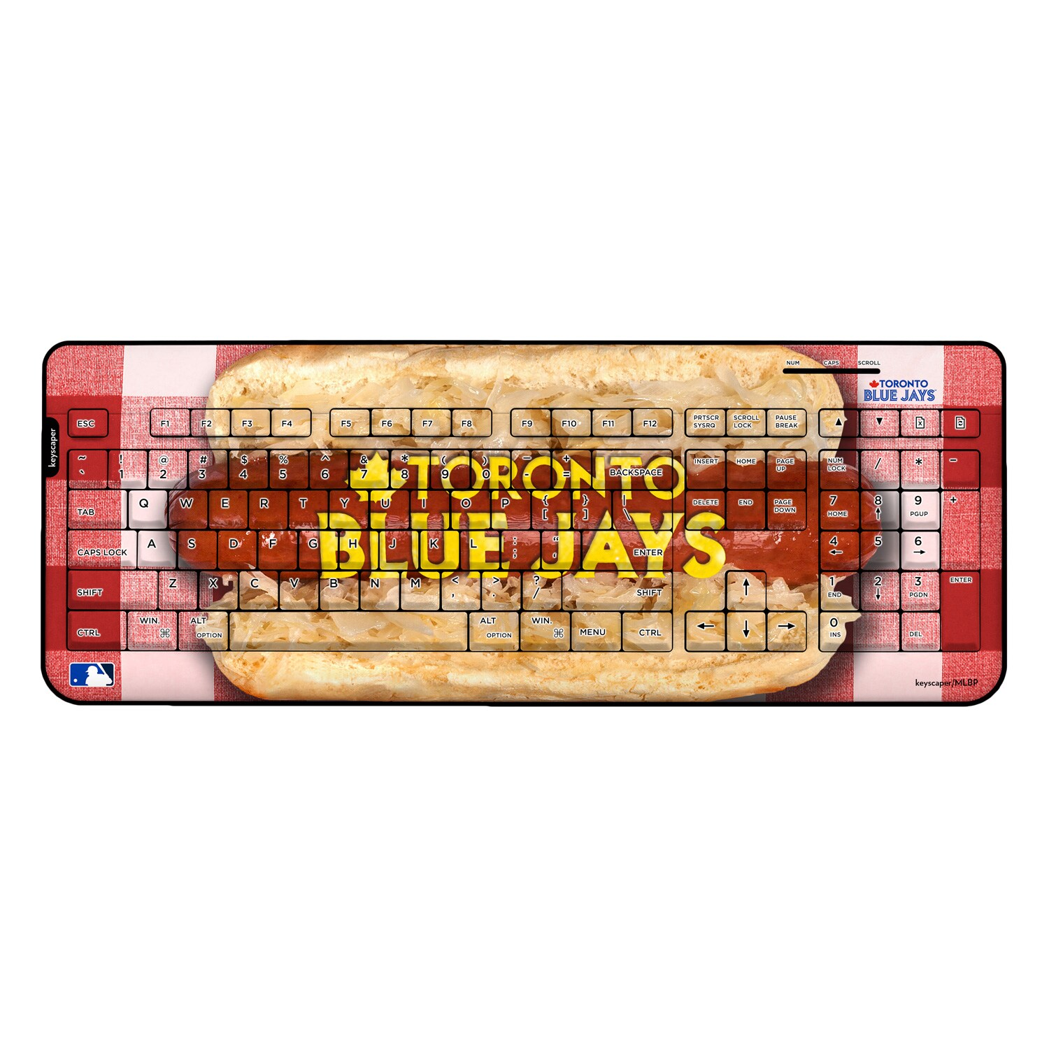 Toronto Blue Jays Hot Dog Wireless USB Keyboard