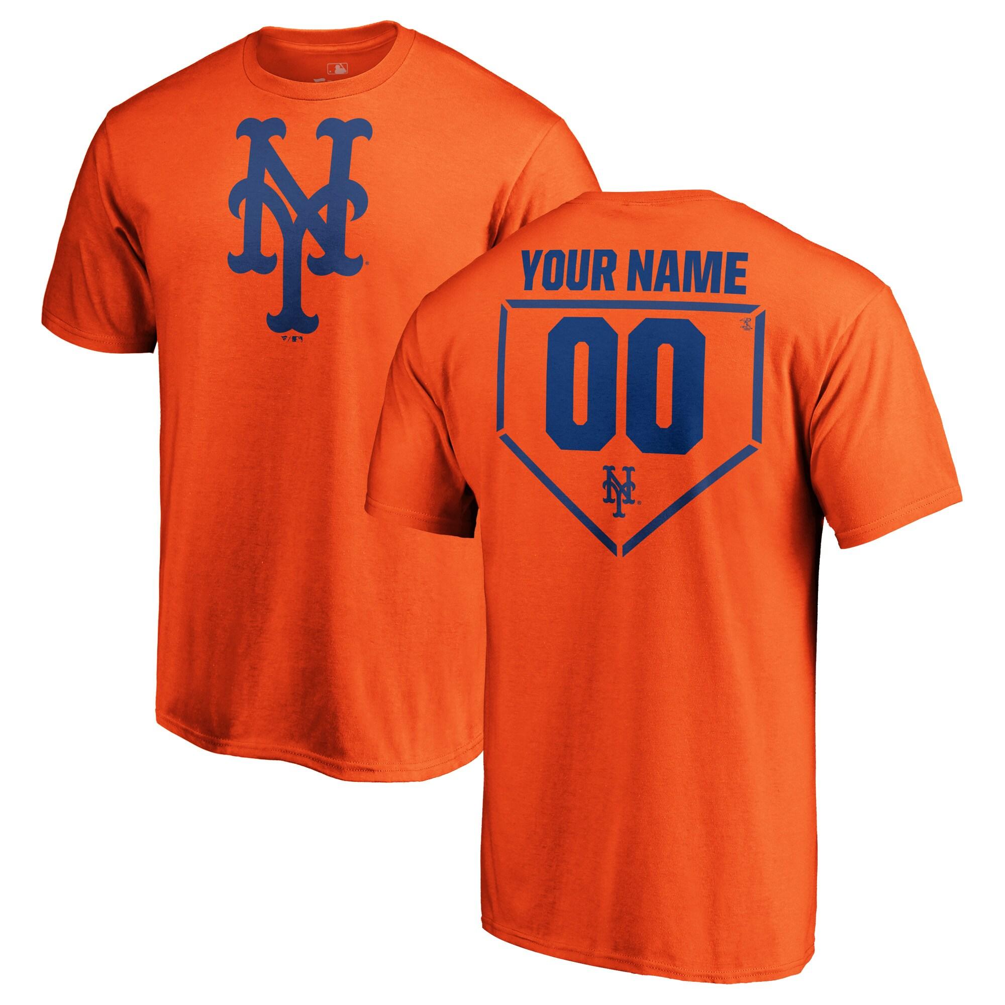 New York Mets Fanatics Branded Personalized RBI T-Shirt - Orange