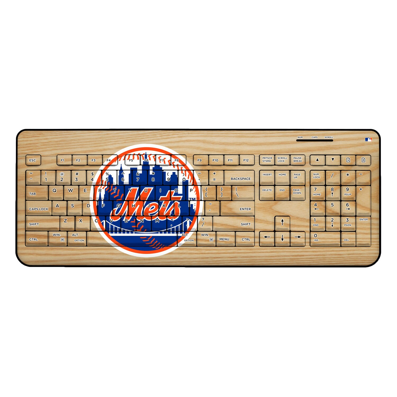 New York Mets Wood Print Wireless USB Keyboard