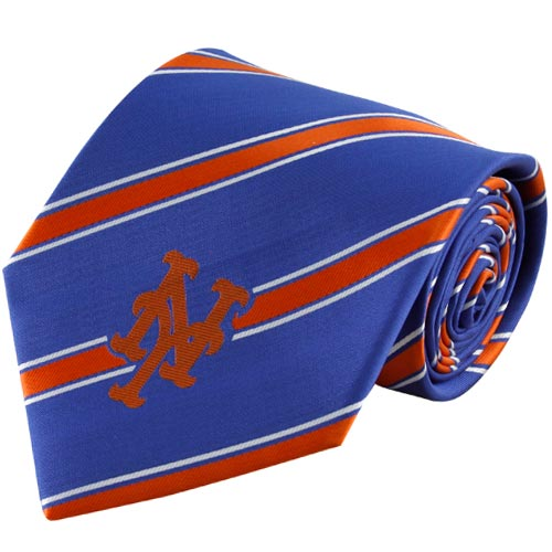 New York Mets Woven Poly Striped Tie