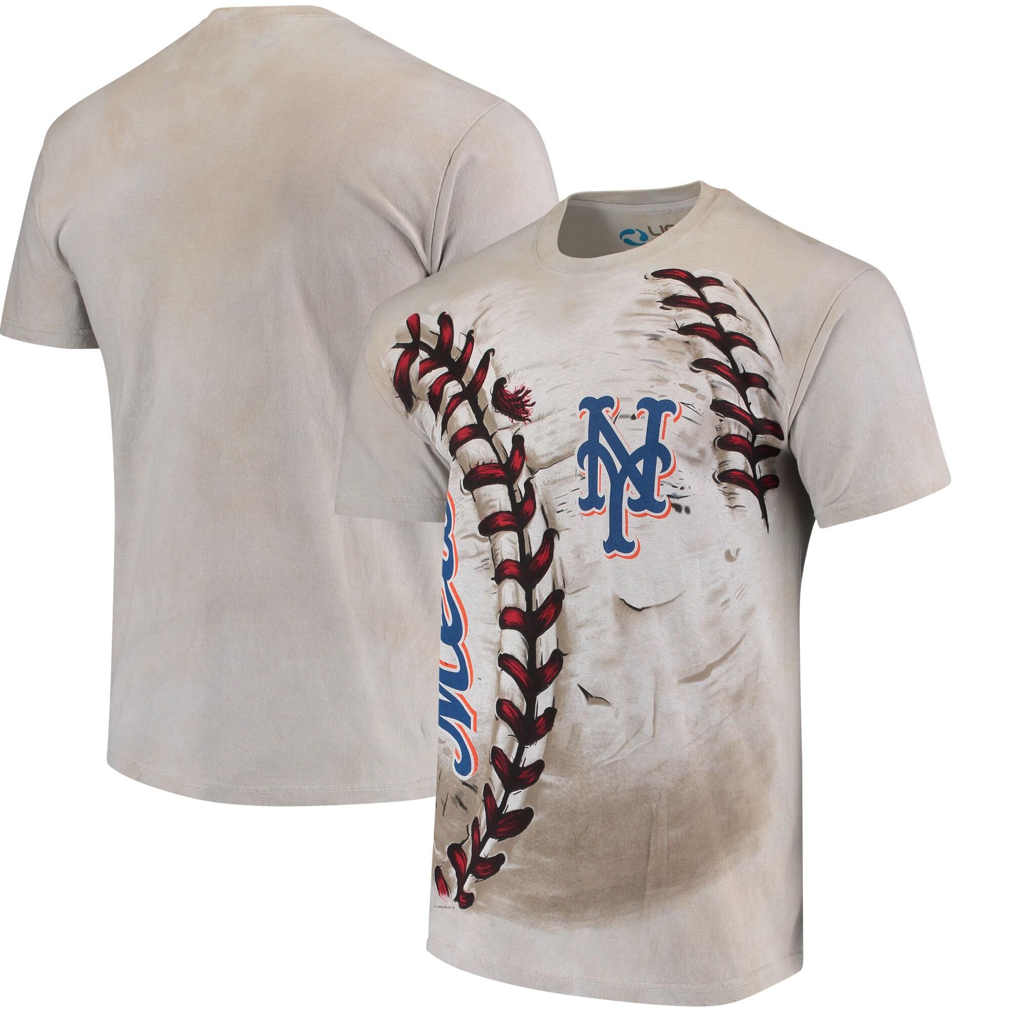 New York Mets Hardball Tie-Dye T-Shirt - Cream