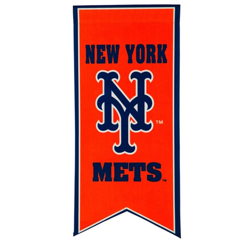 New York Mets 12.5'' x 28'' Flag Banner