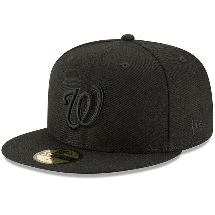 Washington Nationals New Era Primary Logo Basic 59FIFTY Fitted Hat - Black