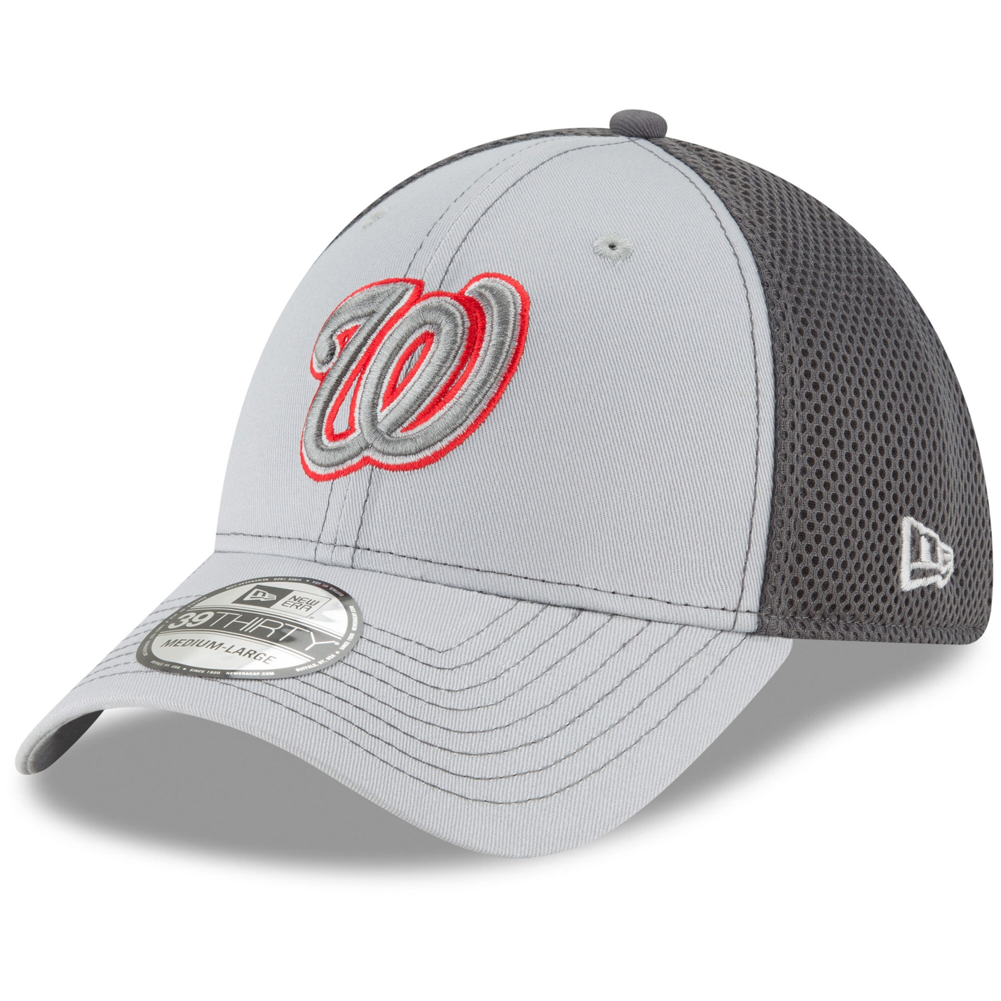 Washington Nationals New Era Grayed Out Neo 39THIRTY Flex Hat - Gray