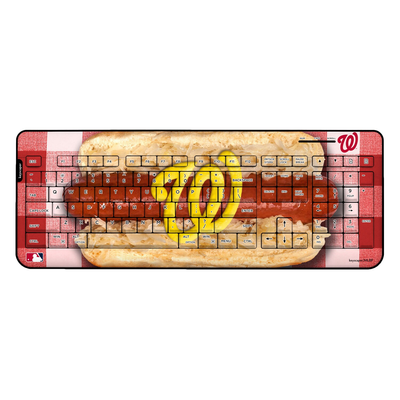 Washington Nationals Hot Dog Wireless USB Keyboard