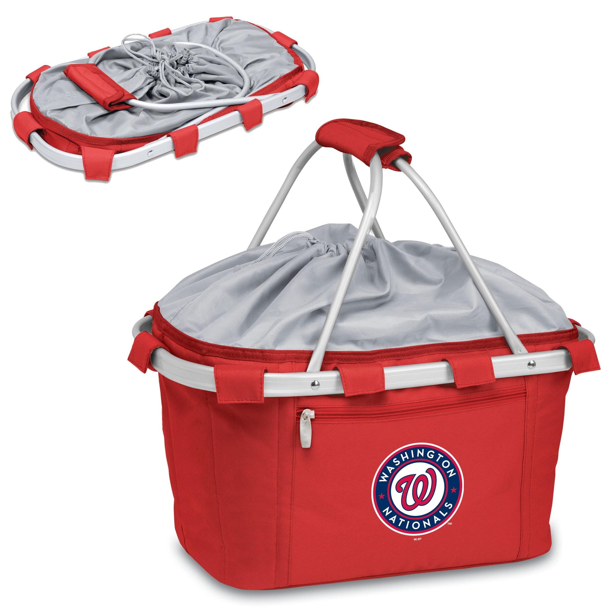 Washington Nationals Metro Basket Collapsible Tote - Red