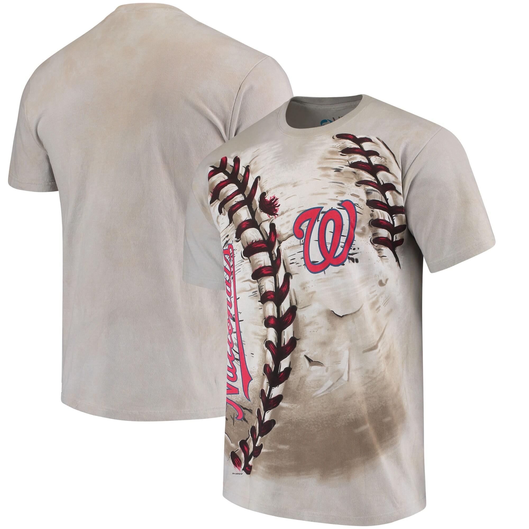 Washington Nationals Hardball Tie-Dye T-Shirt - Cream