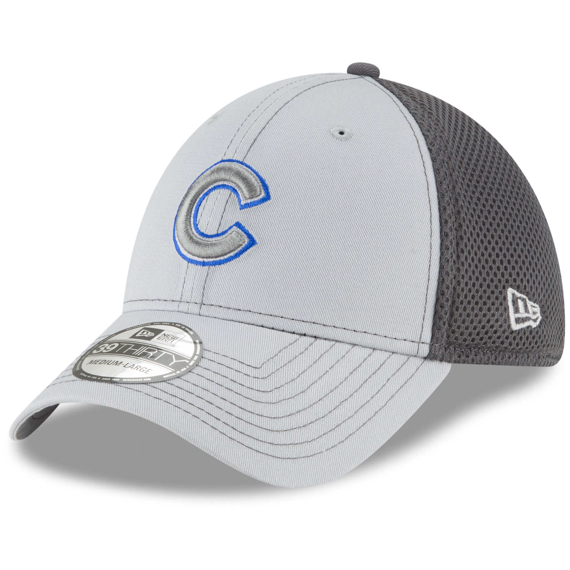 Chicago Cubs New Era Grayed Out Neo 39THIRTY Flex Hat - Gray