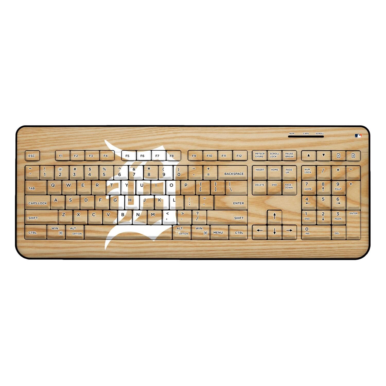 Detroit Tigers Wood Print Wireless USB Keyboard