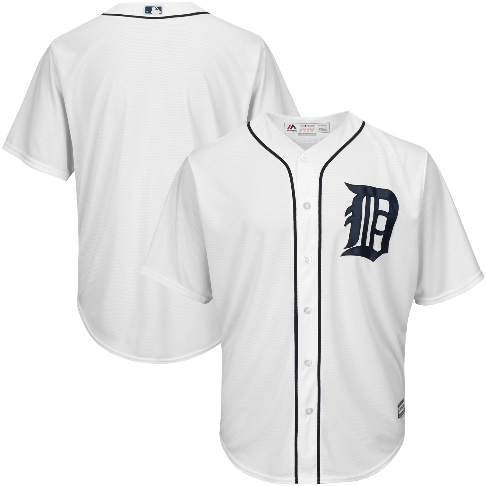Detroit Tigers Majestic Big & Tall Cool Base Team Jersey - White