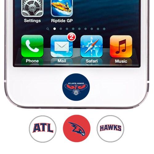 Atlanta Hawks 4-Pack Apple Home Button Sticker