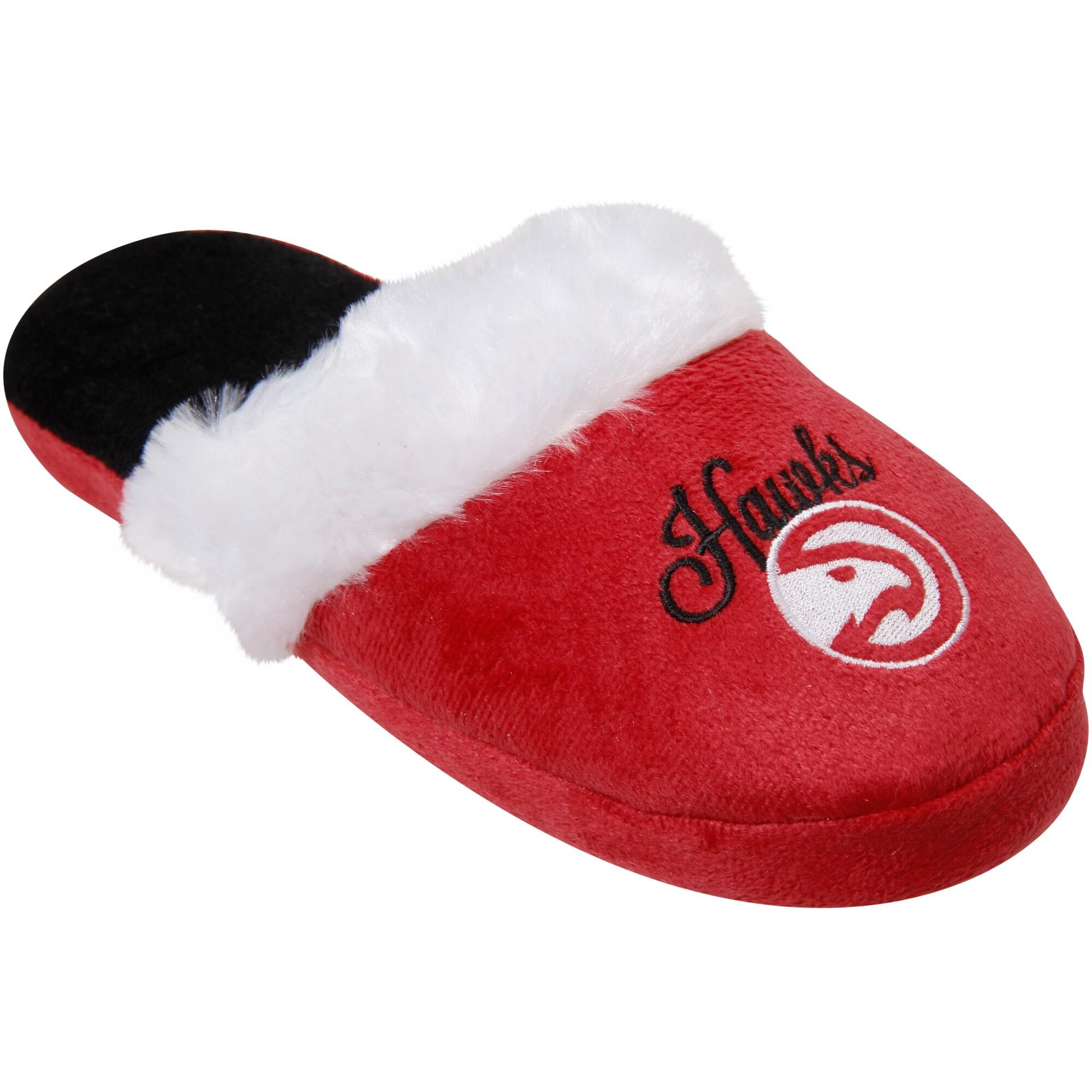 Atlanta Hawks Women's Colorblock Faux Fur Slide Slippers