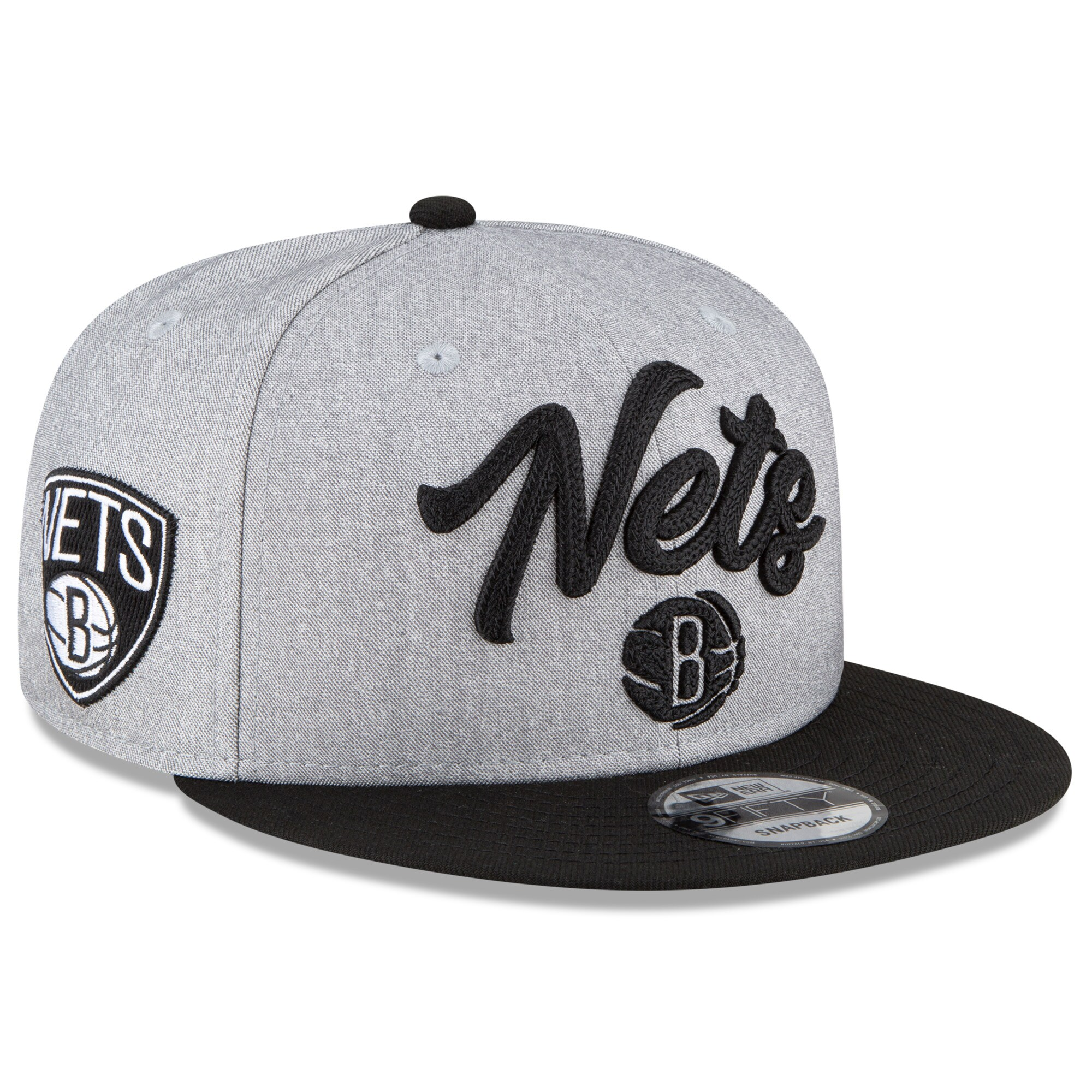 Brooklyn Nets New Era 2020 NBA Draft Official On-Stage 9FIFTY Snapback Adjustable Hat - Heather Gray/Black