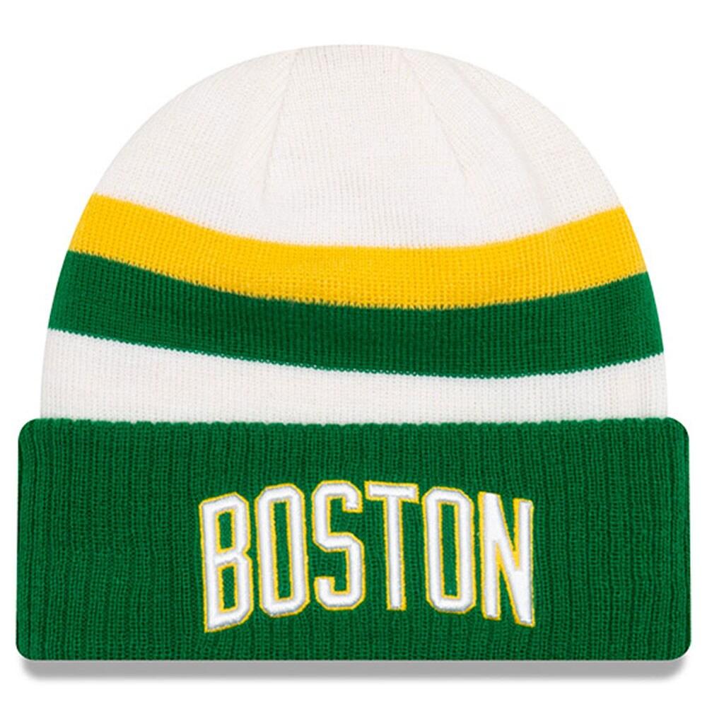 Boston Celtics New Era 2018 City Edition Cuffed Knit Hat - White