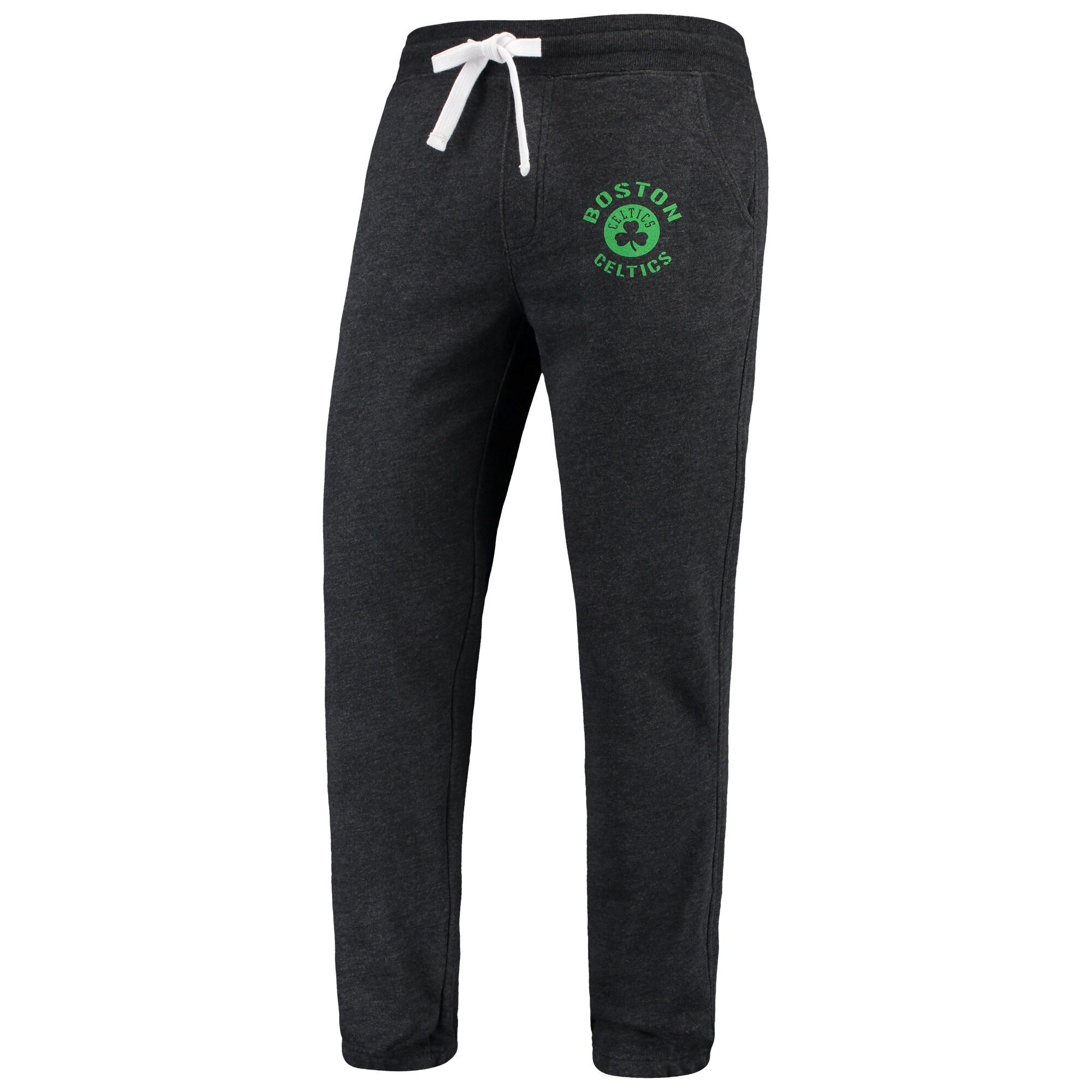 Boston Celtics Sportiqe Quincy French Terry Classic Sweatpants - Black