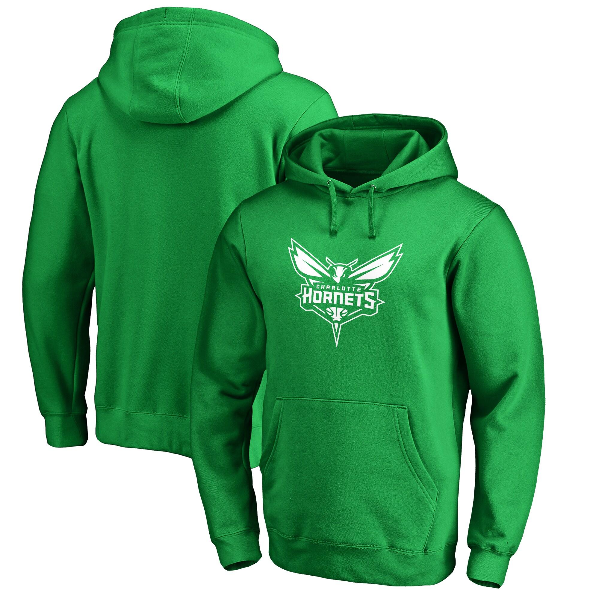 Charlotte Hornets Fanatics Branded St. Patrick's Day White Logo Pullover Hoodie - Green