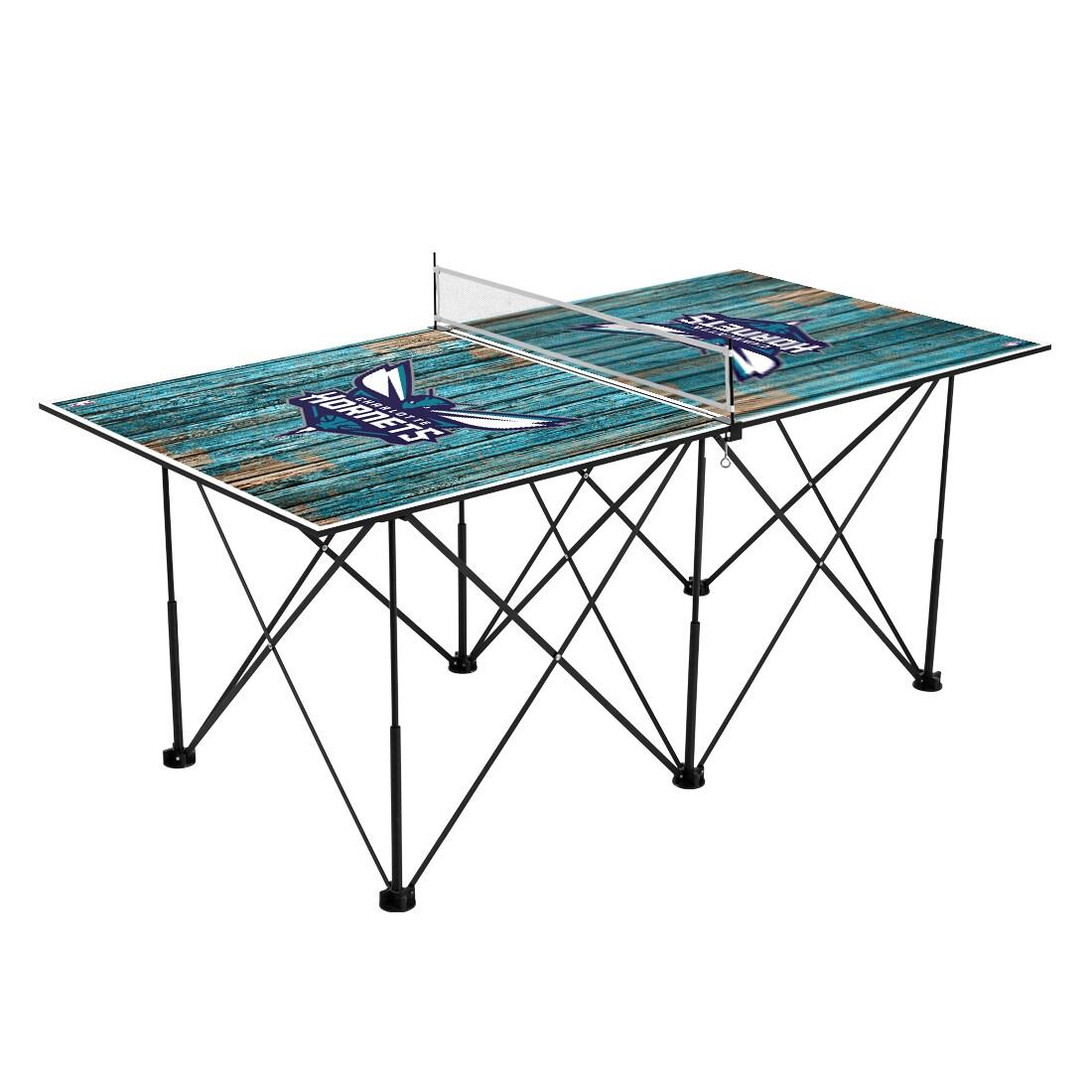 Charlotte Hornets 6' Weathered Design Pop Up Table Tennis Set