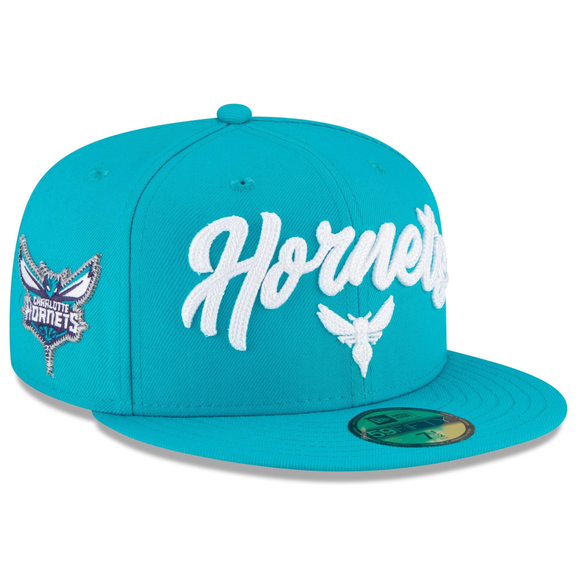 Charlotte Hornets New Era 2020 NBA Draft OTC 59FIFTY Fitted Hat - Teal