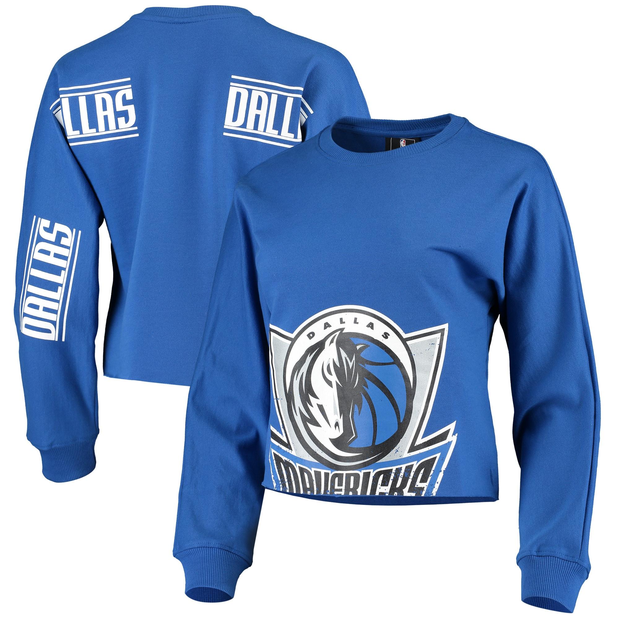 Dallas Mavericks Women's Cropped Long Sleeve T-Shirt - Blue