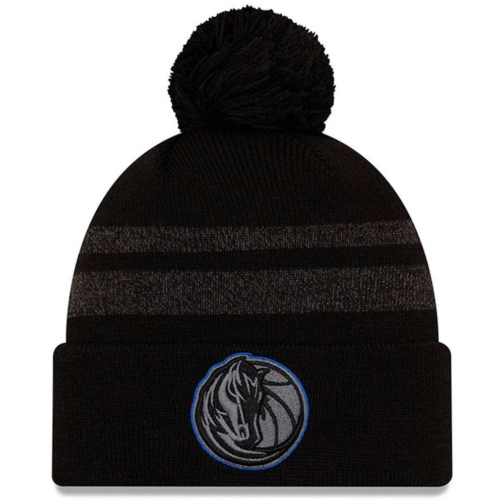 Dallas Mavericks New Era Cuffed Knit Hat with Pom - Black