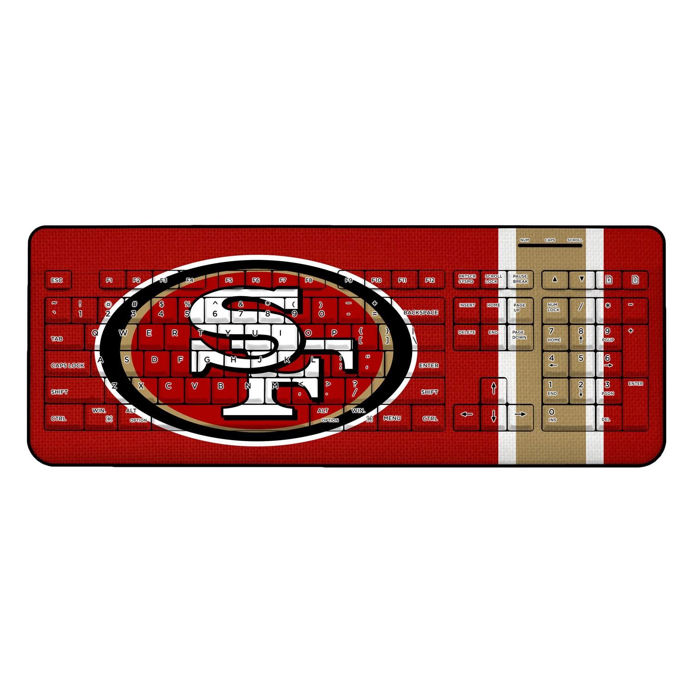 San Francisco 49ers Stripe Wireless Keyboard